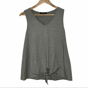 Striped Tank with Front Tie